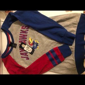 Kansas Jayhawks sweatshirt youth large